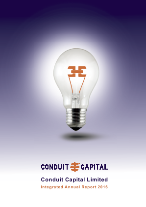 Conduit Capital annual report 2016