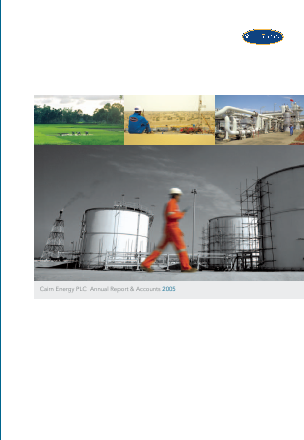 Cairn Energy Plc annual report 2005
