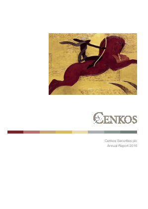 Cenkos Securities Plc annual report 2016