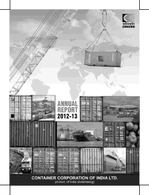 Container Corporation of India annual report 2013