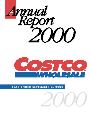 Costco Wholesale Corporation annual report 2000