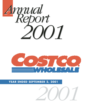 Costco annual report 2001