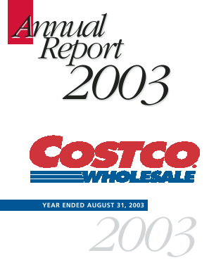 Costco annual report 2003