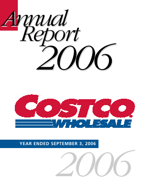 Costco annual report 2006
