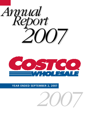 Costco annual report 2007