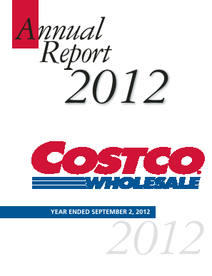 Costco annual report 2012