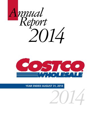 Costco Wholesale Corporation annual report 2014