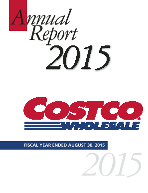 Costco Wholesale Corporation annual report 2015