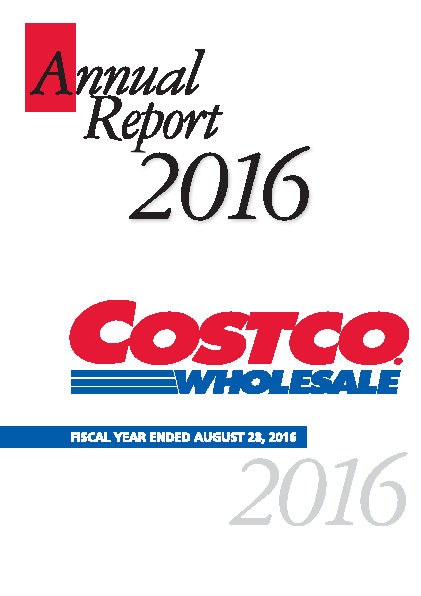 Costco Wholesale Corporation annual report 2016