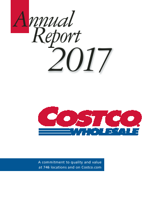 Costco annual report 2017