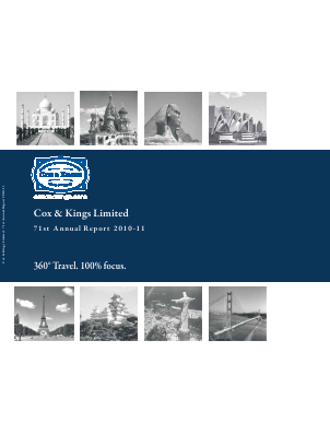 Cox and Kings annual report 2011