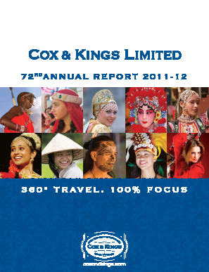 Cox and Kings annual report 2012
