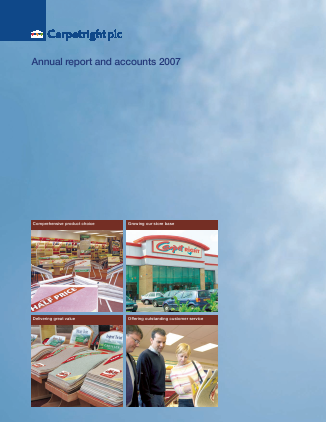 Carpetright annual report 2007
