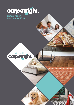 Carpetright annual report 2016