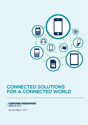Carphone Warehouse annual report 2013