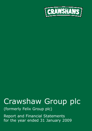 Crawshaw Group Plc annual report 2009