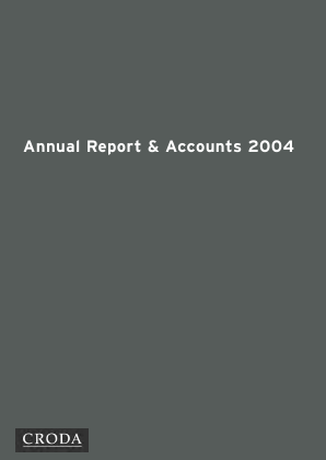 Croda International Plc annual report 2004