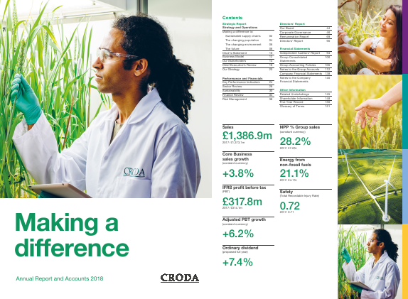 Croda International Plc annual report 2018