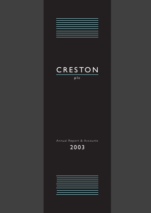 Creston Plc annual report 2003