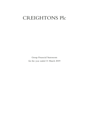 Creightons annual report 2009