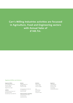 Carrs Group Plc annual report 2003
