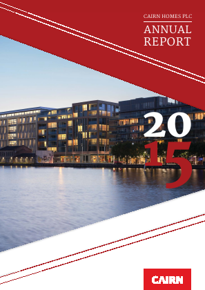 Cairn Homes Plc annual report 2015