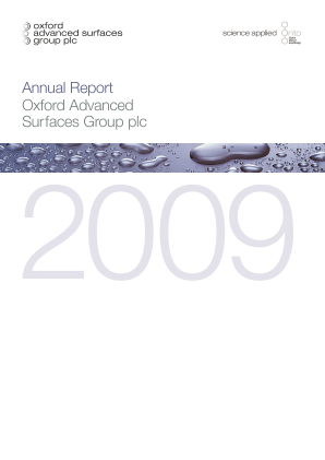 DeepMatter Group (previously Cronin Group) annual report 2009