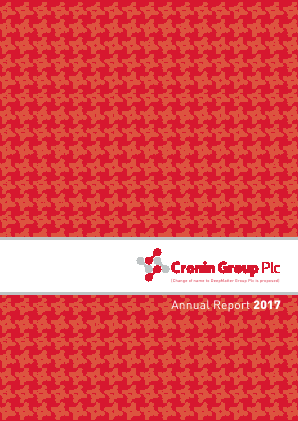 DeepMatter Group (previously Cronin Group) annual report 2017