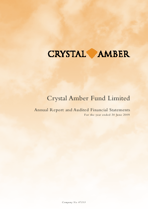 Crystal Amber Fund annual report 2009