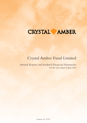 Crystal Amber Fund annual report 2010