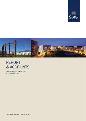 Crest Nicholson Holdings Plc annual report 2009