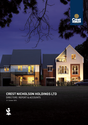 Crest Nicholson Holdings Plc annual report 2010