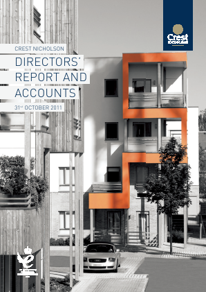 Crest Nicholson Holdings Plc annual report 2011