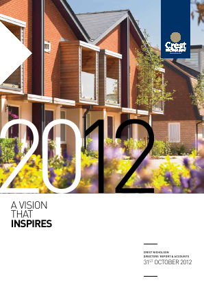 Crest Nicholson Holdings Plc annual report 2012