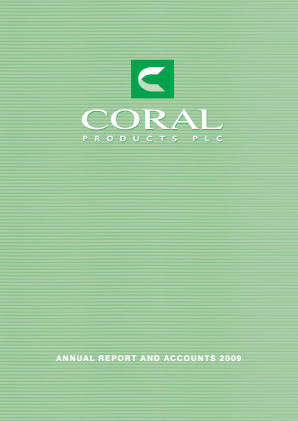 Coral Products annual report 2009