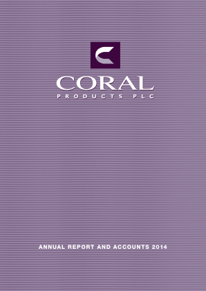 Coral Products annual report 2014