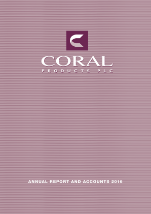 Coral Products annual report 2016
