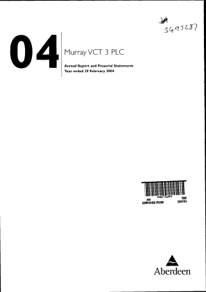 Crown Place VCT annual report 2004