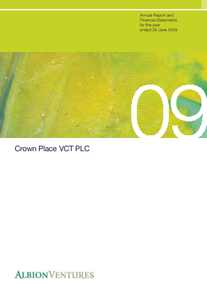 Crown Place VCT annual report 2009