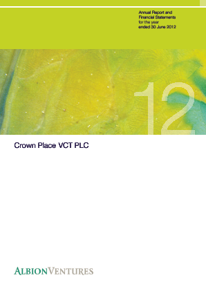 Crown Place VCT annual report 2012