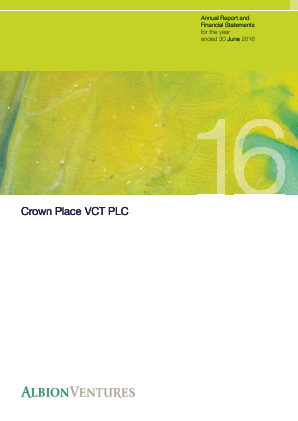 Crown Place VCT annual report 2016