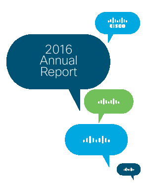 Cisco Systems, Inc. annual report 2016