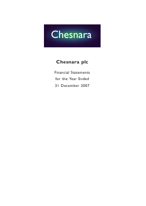 Chesnara annual report 2007