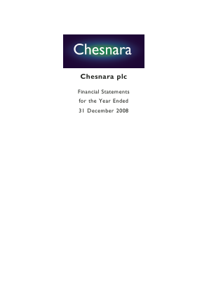 Chesnara annual report 2008