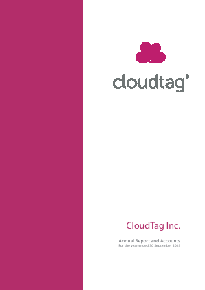 Cloudtag Inc annual report 2015