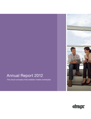 Citrix Systems, Inc. annual report 2012
