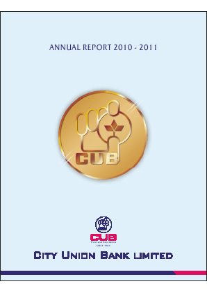City Union Bank annual report 2011