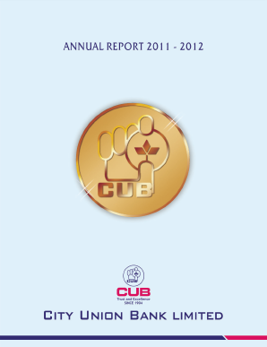 City Union Bank annual report 2012