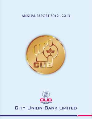 City Union Bank annual report 2013