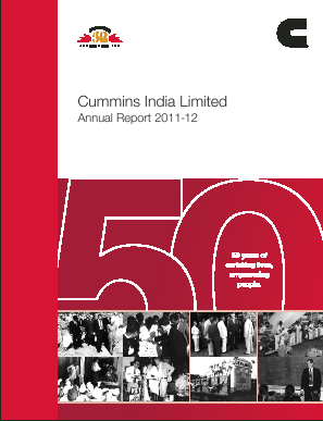 Cummins India annual report 2012